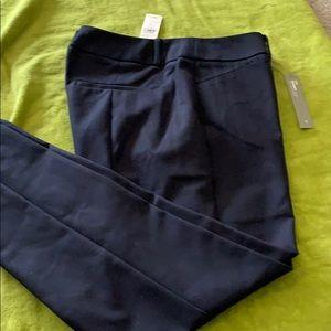 Loft Julie skinny navy pants NWT